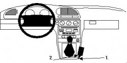 Fixation voiture Proclip  Brodit Ford Mondeo Réf 832349