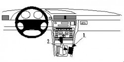 Fixation voiture Proclip  Brodit BMW 728-750 E38 Réf 832352
