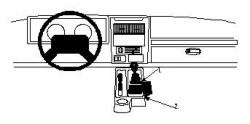 Fixation voiture Proclip  Brodit Jeep Sahara Réf 832383