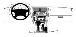 Fixation voiture Proclip  Brodit Toyota LandCruiser 90 Réf 832402