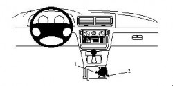 Fixation voiture Proclip  Brodit Volkswagen Passat Réf 832405