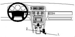 Fixation voiture Proclip  Brodit Volvo C70 Réf 832409