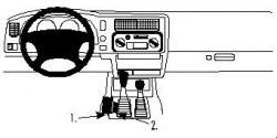 Fixation voiture Proclip  Brodit Mitsubishi L200  UNIQUEMENT pour changement de vitesse manuel. Réf 832416
