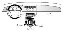 Fixation voiture Proclip  Brodit Jaguar XK8 / XKR Réf 832431