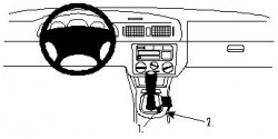 Fixation voiture Proclip  Brodit Skoda Octavia I  SEULEMENT pour Classic 01-04, 97-00 LX, SLX 97-98. Réf 832439