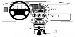 Fixation voiture Proclip  Brodit Peugeot 306 Réf 832468