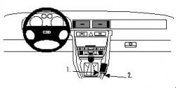 Fixation voiture Proclip  Brodit Audi A6 Réf 832474