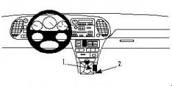 Fixation voiture Proclip  Brodit Saab 900 Réf 832477