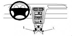 Fixation voiture Proclip  Brodit Mazda 626  PAS de changement de vitesse automatique. Réf 832490