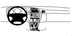 Fixation voiture Proclip  Brodit Saab 9-5 Réf 832504