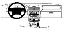 Fixation voiture Proclip  Brodit Subaru Forester Réf 832507
