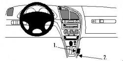 Fixation voiture Proclip  Brodit Citroen Xsara Réf 832513