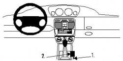Fixation voiture Proclip  Brodit Lancia Y Réf 832521