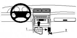 Fixation voiture Proclip  Brodit BMW 520-540/M5 E39 Réf 832565