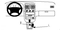 Fixation voiture Proclip  Brodit Toyota Avensis Réf 832580