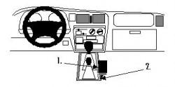 Fixation voiture Proclip  Brodit Toyota HiLux  SEULEMENT pour X-Cab. Réf 832596