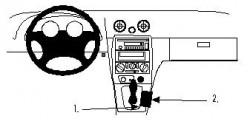 Fixation voiture Proclip  Brodit Mazda Miata Réf 832611