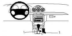 Fixation voiture Proclip  Brodit Chrysler 300M Réf 832617