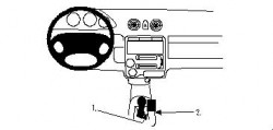 Fixation voiture Proclip  Brodit Hyundai Atos Réf 832624