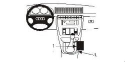 Fixation voiture Proclip  Brodit Audi A4 Avant Réf 832629