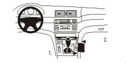 Fixation voiture Proclip  Brodit BMW 316-330/M3 E46 Réf 832801