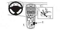 Fixation voiture Proclip  Brodit Renault Clio I Réf 832817