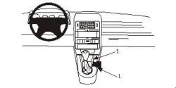 Fixation voiture Proclip  Brodit Audi A2 Réf 832839