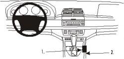 Fixation voiture Proclip  Brodit BMW X5 Réf 832843