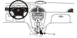 Fixation voiture Proclip  Brodit Citroen C5 Réf 832853