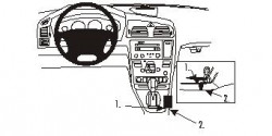 Fixation voiture Proclip  Brodit Volvo S60 Réf 832863