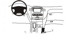 Fixation voiture Proclip  Brodit Lexus LS Series Réf 832889