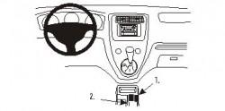 Fixation voiture Proclip  Brodit Honda Civic 3&amp