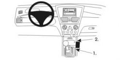 Fixation voiture Proclip  Brodit Suzuki Liana Réf 832927