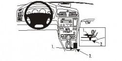 Fixation voiture Proclip  Brodit Volvo S60 Réf 832980