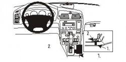 Fixation voiture Proclip  Brodit Volvo V70 N  UNIQUEMENT pour Cross Country. Réf 832985
