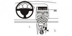 Fixation voiture Proclip  Brodit Honda Jazz Réf 833059