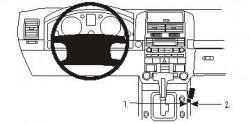 Fixation voiture Proclip  Brodit Volkswagen Touareg Réf 833297