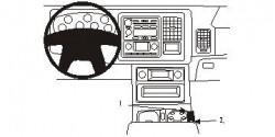 Fixation voiture Proclip  Brodit Chevrolet Avalanche Réf 833308
