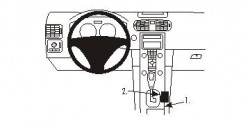 Fixation voiture Proclip  Brodit Volvo C30 Réf 833363