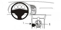 Fixation voiture Proclip  Brodit Honda S2000 Réf 833402
