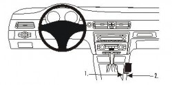 Fixation voiture Proclip  Brodit BMW 316-330/E90/E91/E92/E93 Réf 833597