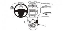 Fixation voiture Proclip  Brodit Citroen C2 Réf 833672