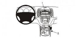 Fixation voiture Proclip  Brodit Hyundai Santa Fe Réf 833805