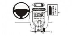 Fixation voiture Proclip  Brodit Citroen C6 Réf 833881