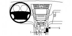 Fixation voiture Proclip  Brodit Lexus LS Series Réf 834028