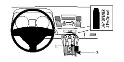 Fixation voiture Proclip  Brodit Mitsubishi Lancer Réf 834052