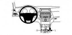 Fixation voiture Proclip  Brodit Honda Accord Réf 834100