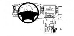 Fixation voiture Proclip  Brodit Toyota Tacoma Réf 834163