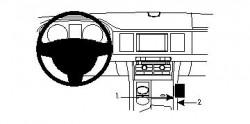 Fixation voiture Proclip  Brodit Jaguar XF Réf 834201