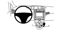 Fixation voiture Proclip  Brodit Toyota Verso Réf 834339